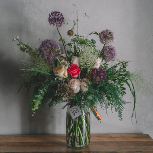 Extra Large pink and purple floral arrangement