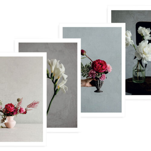 6 pack - Multipack - Floral Photo Cards