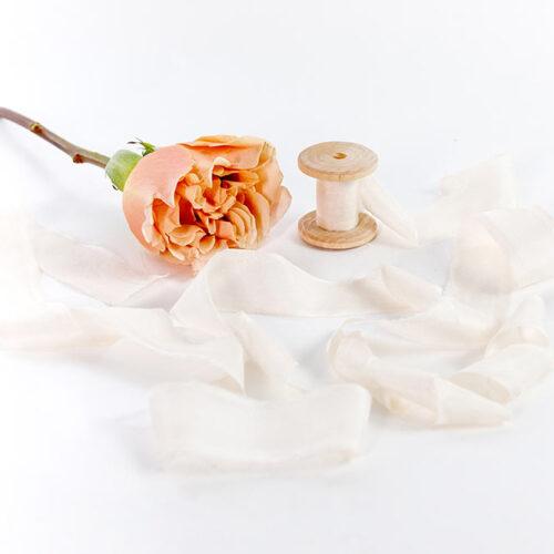 natural silk ribbon - 3m of soft ivory