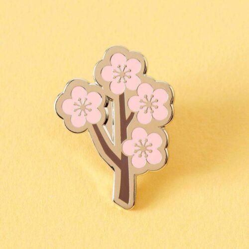 Cherry Blossom Branch Enamel Pin