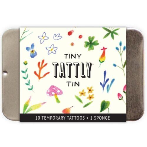 TINY IMAGINARY GARDEN TIN BY JESS CHEN FROM TATTLY TATTOOS