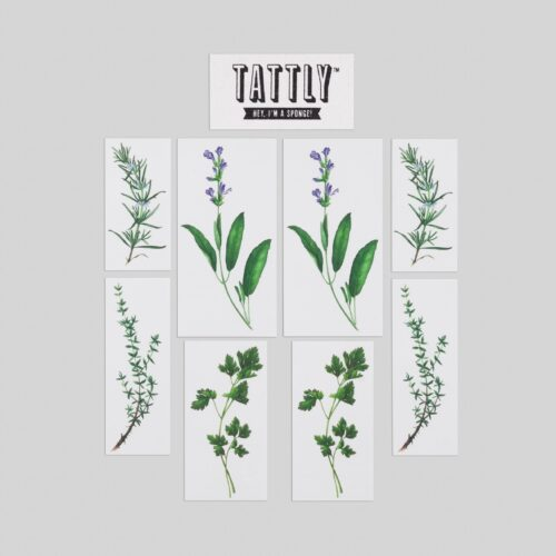 BOUQUET GARNI SET BY VINCENT JEANNEROT FROM TATTLY TATTOOS