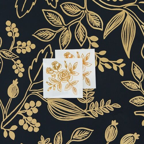 GOLD FLORAL BY RIFLE PAPER CO. FROM TATTLY TATOOS