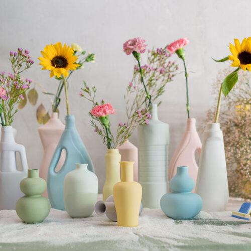 Porcelain Mini Vase Style 5 - Dusty Pink