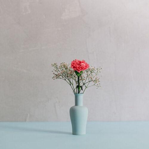 Porcelain Mini Vase Style 3 - Denim