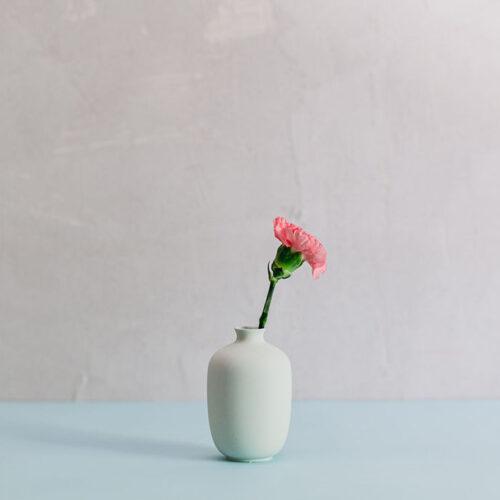 Porcelain Mini Vase Style 10 - Mint
