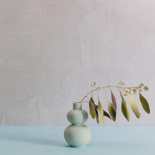 Porcelain Mini Vase Style 5 - Mint