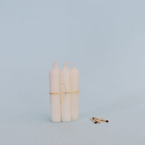 White short candle - Pack of 5