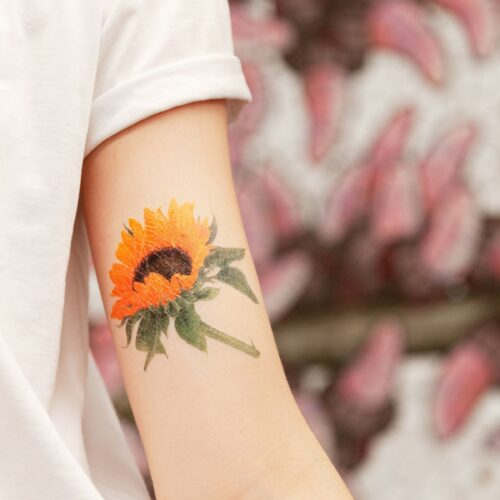 SUNFLOWER BY VINCET JEANNEROT FROM TATTLY TATTOOS