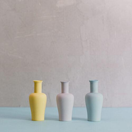 Porcelain Mini Vase Style 3 - Lilac Grey