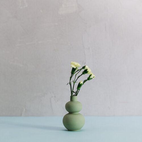 Porcelain Mini Vase Style 5 - Sage