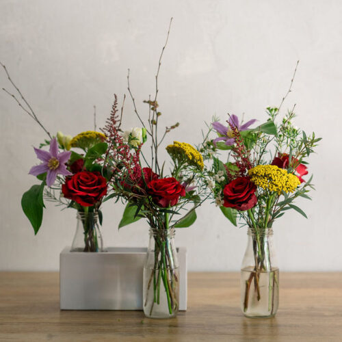 The retro trio - Flower subscription * 2 weeks