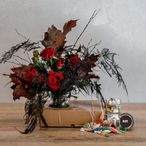 halloween Flowers and candy